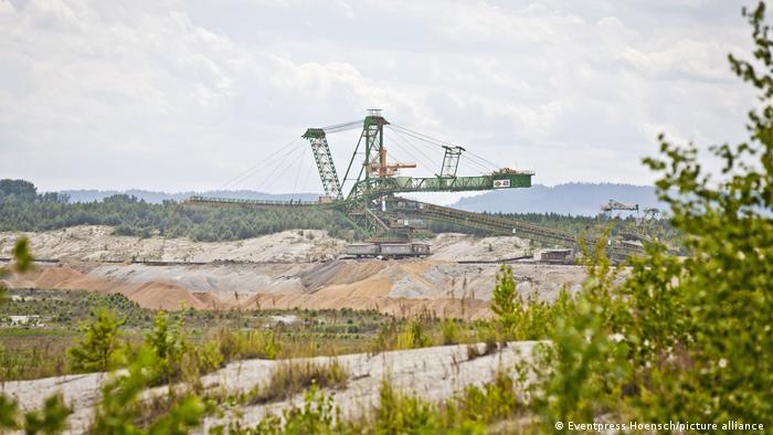 A coal mining landscape
