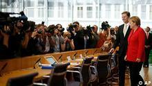 Deutschland Finanzkrise Sparen Haushalt Angela Merkel und Westerwelle