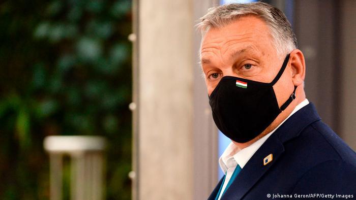 Угорський прем'єр Віктор Орбан після саміту у Брюсселі