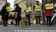 Finnland Helsinki | Demonstration zur Freilassung von Prinzessin Latifa von Dubai