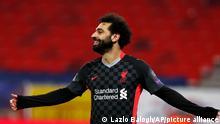 Fußball Champions League RB Leipzig - Liverpool Salah Jubel