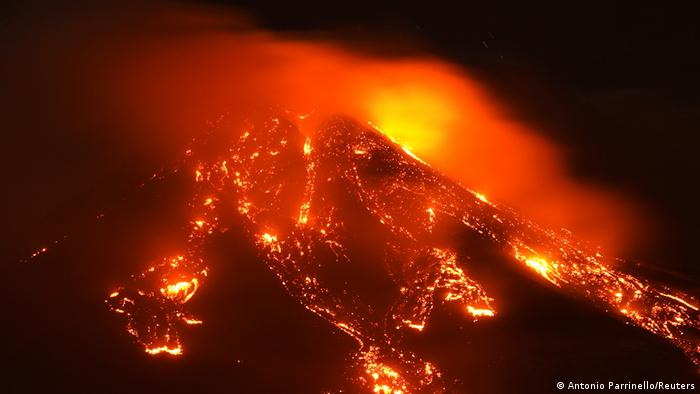 Sizilien Ausbruch Ätna Vulkan
