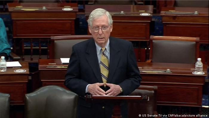 Mitch McConnell speaks about Trump's second impeachment on the Senate floor