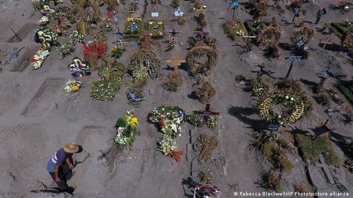 Mexiko Coronapandemie Friedhof