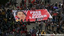 Myanmar Massenproteste nach Militärputsch in Yangon