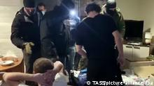 RUSSIA — FEBRUARY 17, 2021: Pictured in this video grab is an operation by Russia's Federal Security Service (FSB) to detain suspected members of Takfir-wal-Hijra, a radical Islamist extremist organisation banned in Russia. FSB has detained 19 suspected radical Islamists in Karachayevo-Cherkessia, Crimea, the Krasnodar Territory, and the Rostov-on-Don Region who allegedly not only promoted their ideology and recruited new members but also plotted subversive activities and terrorist attacks in the North Caucasus region. Video grab/Russian Federal Security Service/TASS A STILL IMAGE TAKEN FROM A VIDEO PROVIDED BY A THIRD PARTY. EDITORIAL USE ONLY