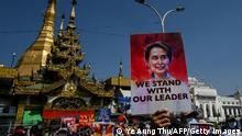 Weltspiegel 17.02.2021   Myanmar Militärputsch   Protest
