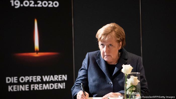 Hanau Anschlag 2020 |1. Jahrestag Rückblick |Gedenkgottesdienst 2020, Angela Merkel