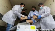Gazastreifen | Coronavirus | Ankunft Impfstoff in Rafah