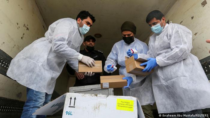 Vacunas contra el SARS-CoV-2 en Gaza.