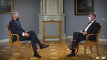 Litauen Vilnius | Gespräch Präsident | Gitanas Nauseda