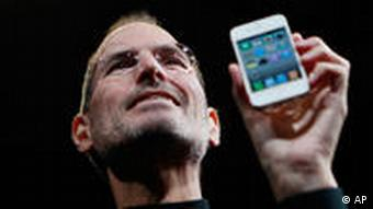 CEO Steve Jobs prezanton i iPhone 4, mars 2010.