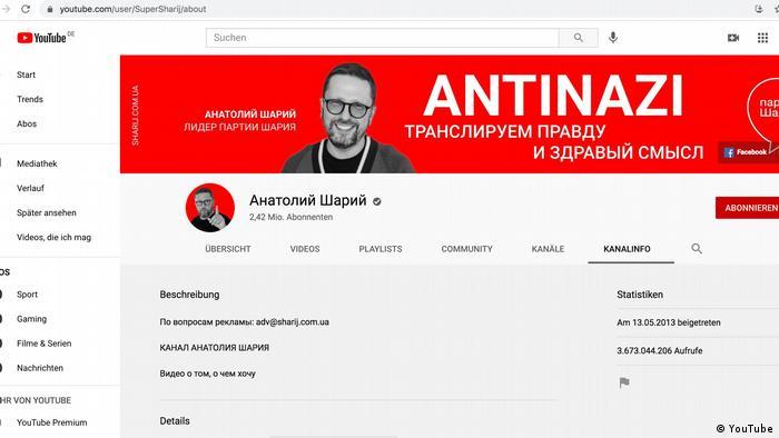 Канал Шарія на YouTube