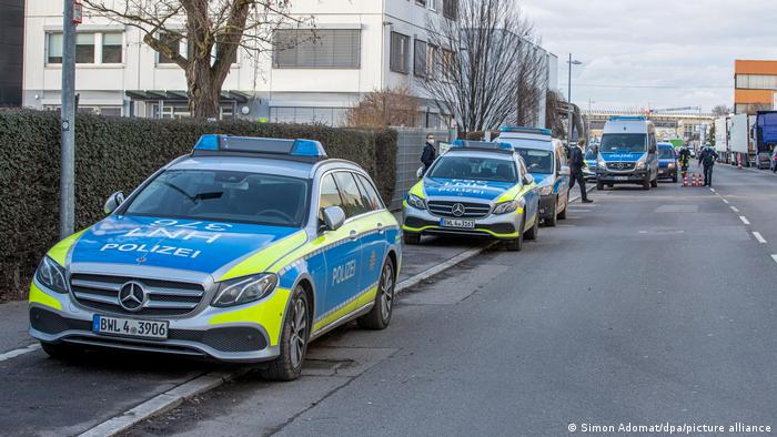 Operativo policial en Neckarsulm.