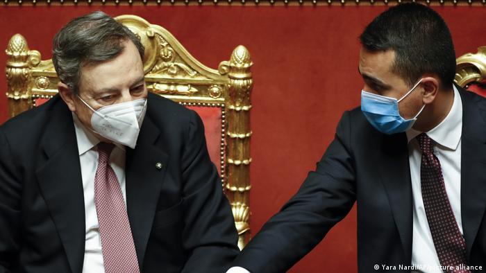 Rom Senat Vertrauensabstimmung Regierung Draghi
