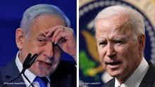 Bildkombo Netanjahu und Joe Biden