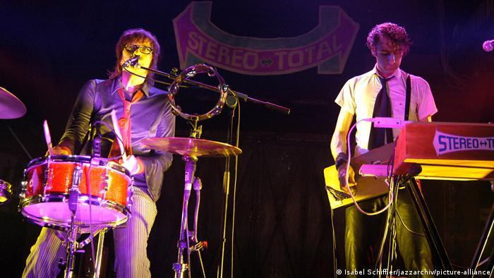 Francoise Cactus und Brezel Göring bei einem Auftritt 2005 in Hamburg