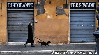 A Rome comme dans la plupart des villes d'Europe, les restaurants sont fermés depuis des semaines