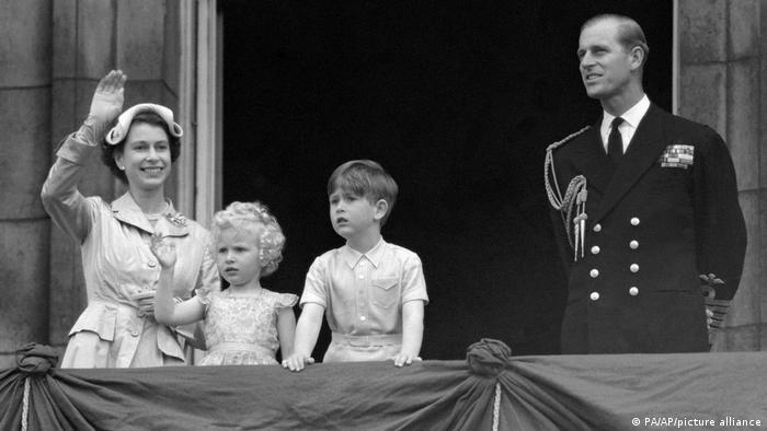 Königin Elizabeth und Prinz Philip Mountbatten