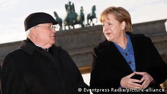 Михаил Горбачев и Ангела Меркель в Берлине