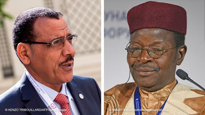 Ruling party candidate Mohamed Bazoum and former president Mahamane Ousmane