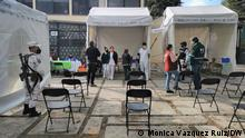 Centro de vacunación en CIudad de México.