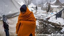 Bosnien-Herzegowina I Migranten im Flüchtlingslager Vucjak
