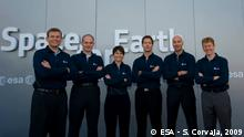 New ESA Astronaut The six new recruits to the European Astronaut Corps visiting the ESA pavilion at the Paris Air Show, Le Bourget, 16 June 2009, before the Human Spaceflight and Exploration in Europe conference.