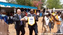 Zentralafrikanische Republik | Gianni Infantino | FIFA Präsident | Besuch in Bangui