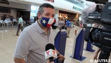 Mexiko US Senator Ted Cruz am Flughafen Cancun