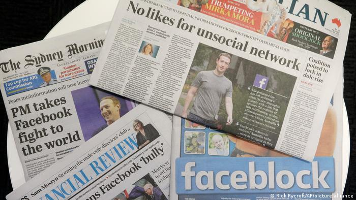 Australian newspapers on Facebook