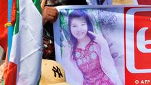 Myanmar Rangun | Trauer um getötete Mya Thwate Thwate Khaing