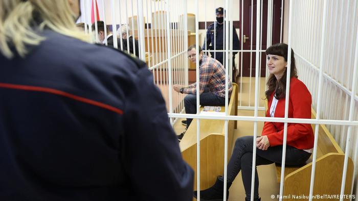 Катерина Борисевич и Артема Сорокин в зале суда