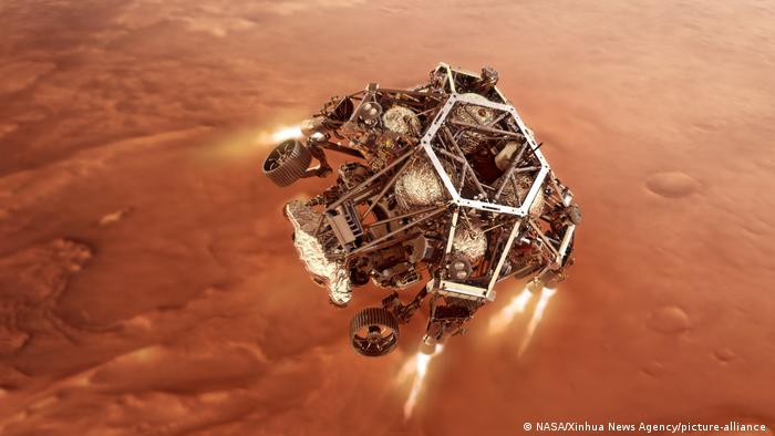 Приземлення марсоходу на Марсі