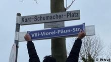 Deutschland | Attentat in Hanau - Straße als Erinnerung an die Opfer kurzzeitig Umbenannt