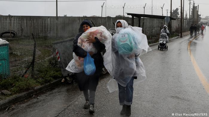 Griechenland Lesbos   Flüchtlingslager Kara Tepe