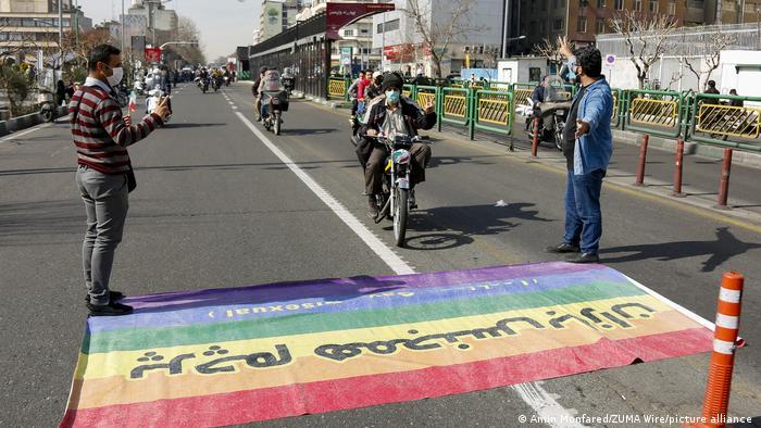 LGBT flag in Tehran
