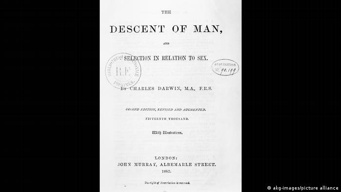Copy of first page of The Descent of Man, and Selection in Relation to Sex