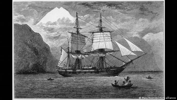 Drawing of the HMS Beagle