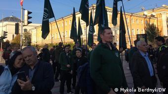 Немецкие ультправые на Марше защитников Украины в Киеве в 2018 году