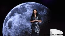 DANA POINT, CA - FEBRUARY 07: Mars 2020 Arm Science Surface Phase Lead Diana Trujillo speaks onstage during The 2019 MAKERS Conference at Monarch Beach Resort on February 7, 2019 in Dana Point, California. Vivien Killilea/Getty Images for MAKERS/AFP (Photo by Vivien Killilea / GETTY IMAGES NORTH AMERICA / AFP)