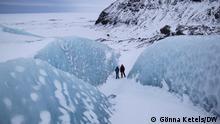 Island I Vatnajökull Gletscher