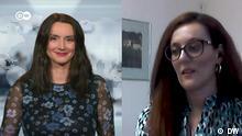 Zorica Ilic (links), DW-Jorunalistin und Martina Mlinarevic, die Botschafterin von Bosnien und Herzegowina in Tschechien.
