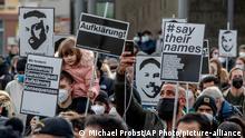 Deutschland Hanau l Demonstration l Ein Jahr nach dem Anschlag