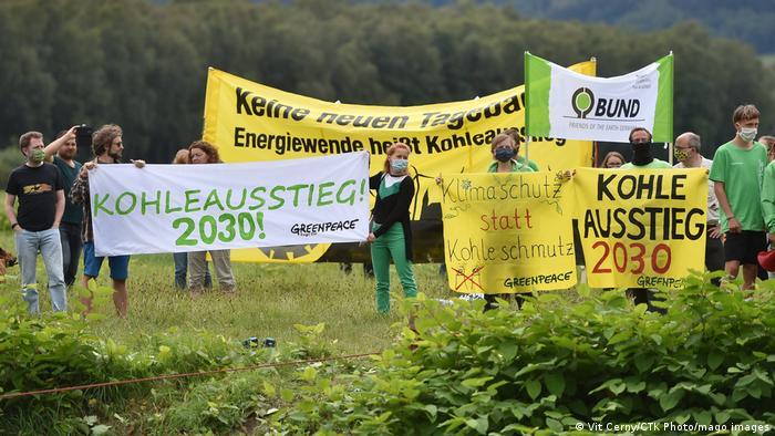 Tschechien I Proteste gegen Braunkohleabbau in Turow