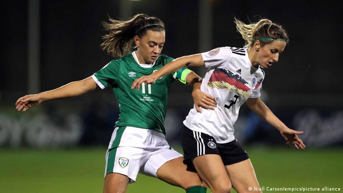 Kathrin-Julia Hendrich plays against Ireland