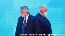 Argentinien Alberto Fernandez und Gines Gonzalez Garcia