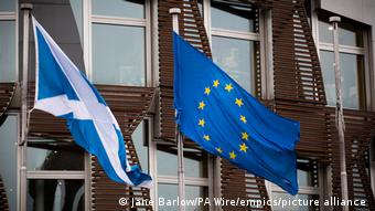 Σημαίες Σκωτίας και ΕΕ