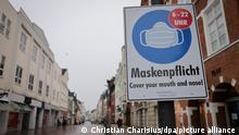 Flensburg Coronavirus - Hinweisschild zur Maskenpflicht