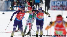 Slowenien Biathlon Weltmeisterschaft Anastasiya Merkushyna und Yuliia Dzhima aus Ukraine